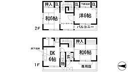 [一戸建] 兵庫県川西市東畦野3丁目 の賃貸【/】の間取り