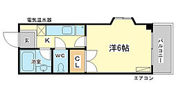 アイランド東今宿[2階]の間取り