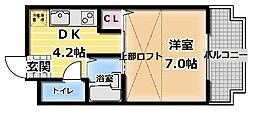 エクセル小林[3階]の間取り