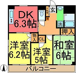 東京都葛飾区西新小岩4丁目の賃貸マンションの間取り