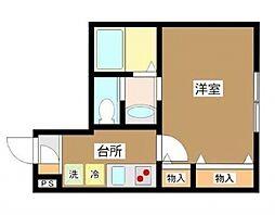 東京都大田区久が原1丁目の賃貸アパートの間取り