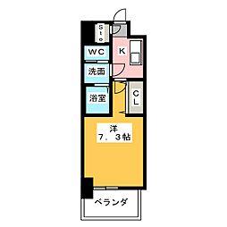 S-RESIDENCE名駅南 9階1Kの間取り