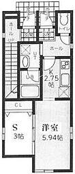 コテージ横浜[1階]の間取り