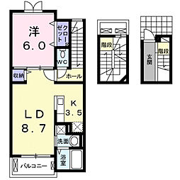 クラウンタワー[3階]の間取り