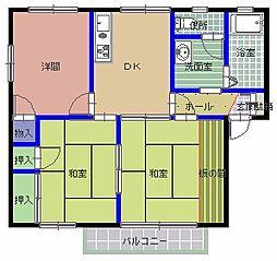 グリーンフォーレ B棟[2階]の間取り