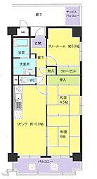 ボヌール鶴見II番館[6階]の間取り