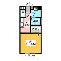 グレイス・アキ[2階]の間取り