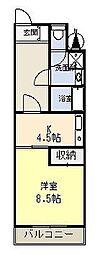 静岡県三島市大宮町3丁目の賃貸マンションの間取り
