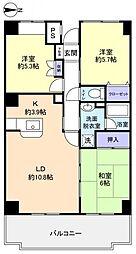 ベルファーム3号館[5階]の間取り