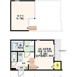 Grande鶴羽[2階]の間取り