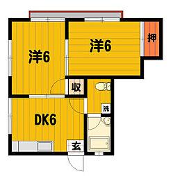 2019年11月までの契約です トビーズ第1ビル103[1階]の間取り