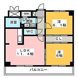 MZ・ESTATE II[3階]の間取り
