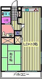 サン・アップマンション[2階]の間取り