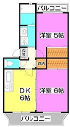 ドミールウチダ[1階]の間取り