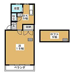 ユニオン2A[2階]の間取り