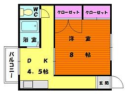 坂本アパート[2階]の間取り