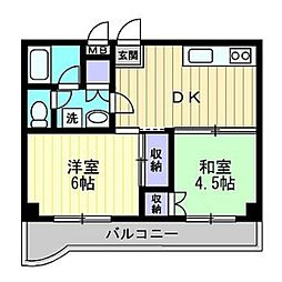 グランツ西古松II[6階]の間取り