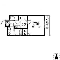ヘーベルメゾンTANAKA[203号室号室]の間取り