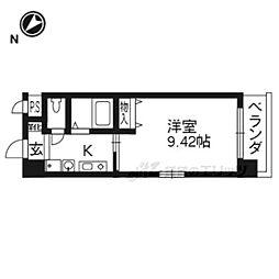 JR東海道・山陽本線 大津駅 徒歩10分の賃貸マンション 10階1Kの間取り