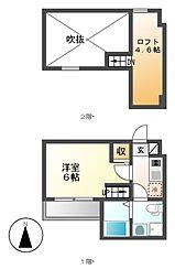 REVE鶴舞(レーヴ)[1階]の間取り