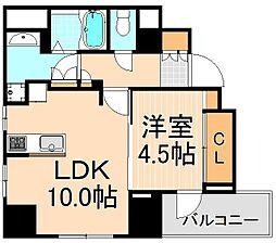 東京都台東区蔵前4丁目の賃貸マンションの間取り
