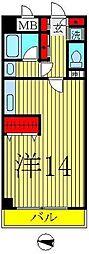 オアシス2000[4階]の間取り