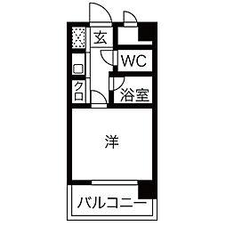 福岡県福岡市南区野間3丁目の賃貸マンションの間取り