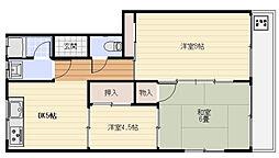メゾン松阪[205号室]の間取り