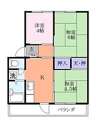 広瀬ハイツ[3階]の間取り