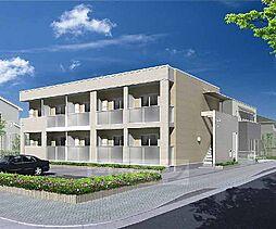 京都府八幡市美濃山宮ノ背の賃貸アパートの外観