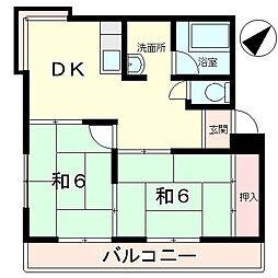 滋賀県甲賀市水口町虫生野中央の賃貸マンションの間取り