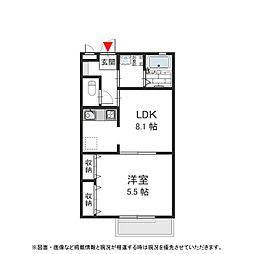 阪急神戸本線 王子公園駅 徒歩13分の賃貸マンション 2階1LDKの間取り