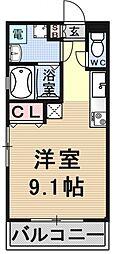 パークス京都東[101号室号室]の間取り
