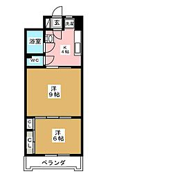 アーバンハイツ中野栄[2階]の間取り
