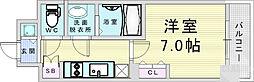 阪急神戸本線 中津駅 徒歩8分の賃貸マンション 7階1Kの間取り
