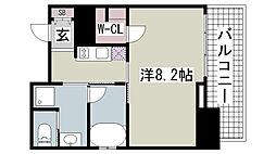 レジディア神戸元町[401号室]の間取り
