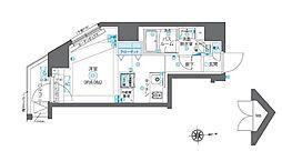 JR山手線 高田馬場駅 徒歩3分の賃貸マンション 7階ワンルームの間取り