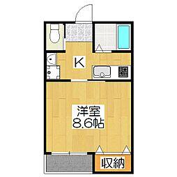 京OHBU IV[103号室]の間取り