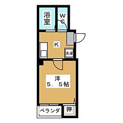 バインオークNIC[3階]の間取り