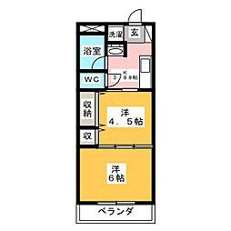 パインズヒルマンション[2階]の間取り