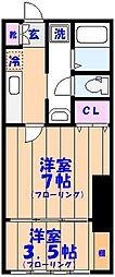 梅翁&プロッシモ西船橋[205号室]の間取り