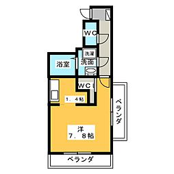 レジェンド横田[4階]の間取り
