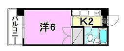 パーチェ4・2・3[301 号室号室]の間取り