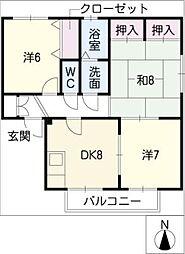 エクセル・クレイA棟[2階]の間取り
