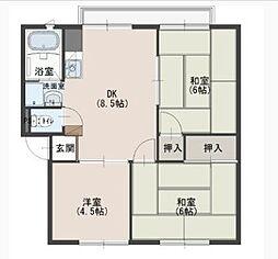 サンコートカシマB[2階]の間取り