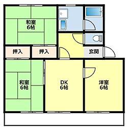 愛知県豊田市大林町13丁目の賃貸マンションの間取り