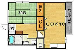 ハイツTADA[2階]の間取り