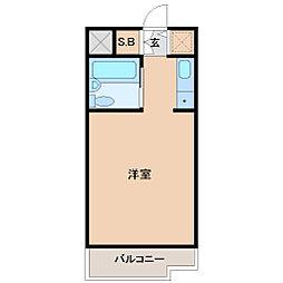 ジョイフル南塚口1号館[3階]の間取り
