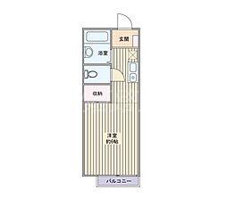 NISHIKI[2階]の間取り