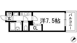 クレール宝塚2[3階]の間取り